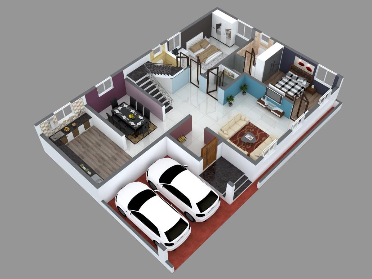 20D Floor Plan Designers Online in Bangalore