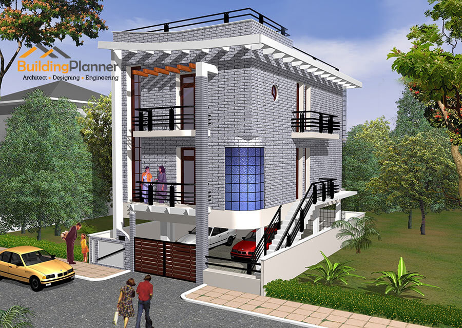 3d elevation for duplex