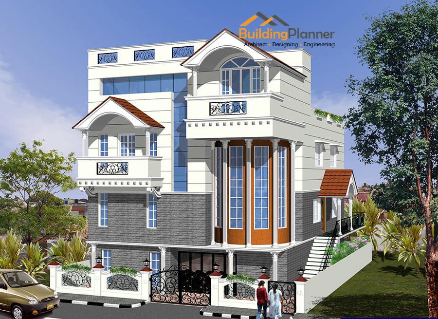 3d Elevation Design For House