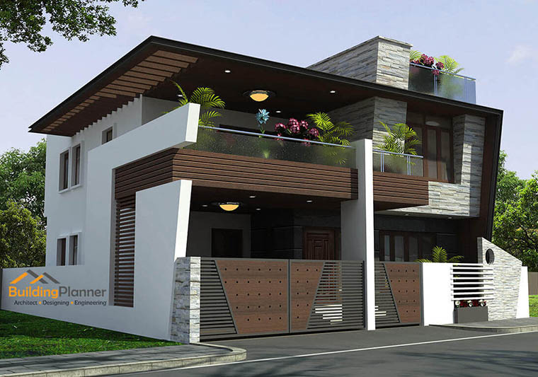 2d Front Elevation For Residential : House plan home plans architects in bangalore floor