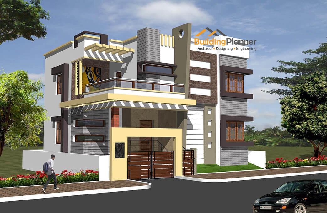 Architects in bangalore floor plan house plan 2d 3d for 3d house walkthrough